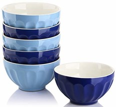 DOWAN 28 Ounce Large Cereal Bowls Set, Porcelain Bowls for Soup, Salad, ... - £25.04 GBP