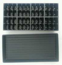 Set of 5 SOLID TRAYS AND 240 LARGER Cells Seedling Starting 5 Inserts Black - $28.70