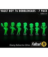 """Fallout 76 Glowing Radioactive Edition Bobblehead 5"""" Series ONE 7-PACK B... - $269.99"""