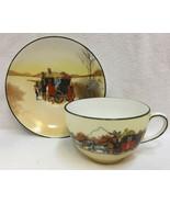 Tea Cup & Saucer Royal Doulton Porcelain Horse & Carriage Travel Mail Ca... - $29.69