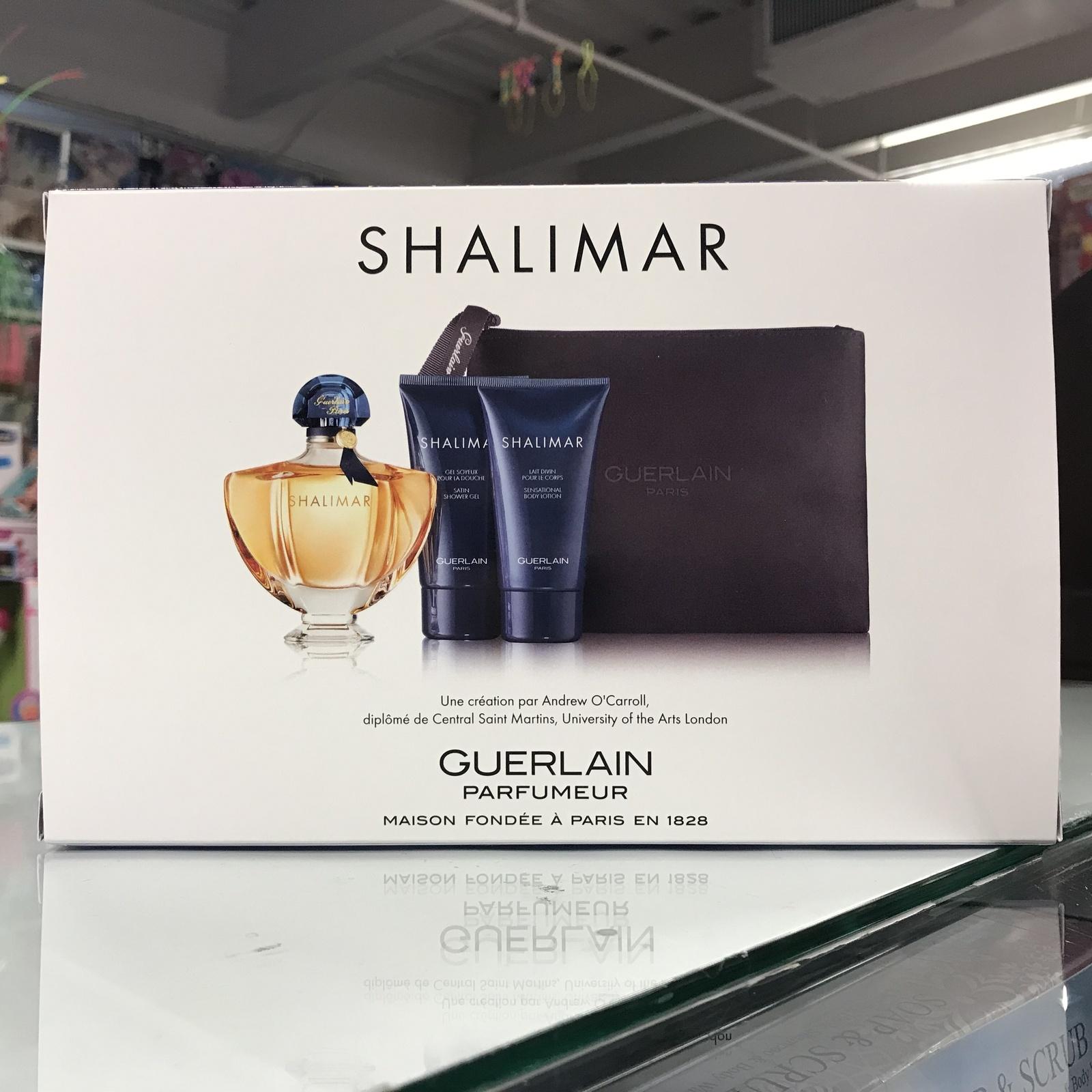 Shalimar by Guerlain 4 Pieces Women Set 3.0 oz + Lotion + Gel + Nice Purse  - $78.98