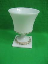 Vintage Milk Glass Footed Pedestal Vase Brody - $13.98