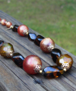 Vintage Crown Trifari Art Glass Necklace - $48.00