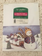 All Printers Greeting Card Paper & Envelopes Snow Family Christmas Cards... - $12.99