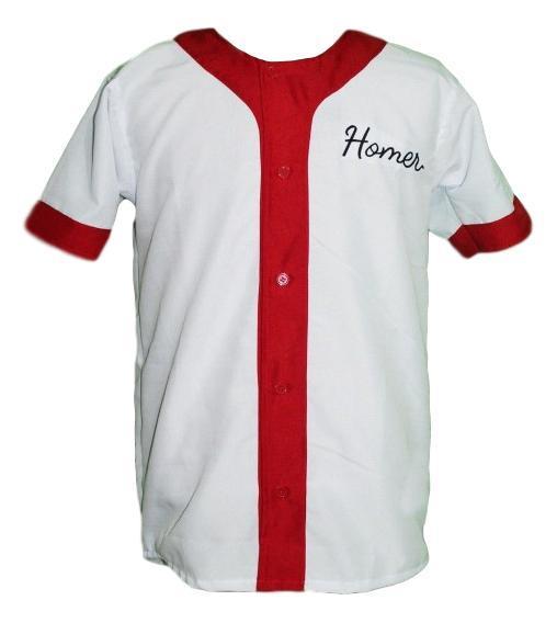 Homer simpson  20 springfield button down baseball jersey white   1