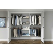 Essential Plus 48 In. W - 96 In. W Wood Closet System - £206.88 GBP