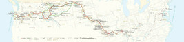 HUGE Lewis & Clark National Historic Trail Map Historic Wall Art Poster Print  - $67.00+