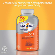 NEW One A Day Women's 50+ Healthy Advantage Multivitamin, 300 Tablets FREE SHIP. - $27.49