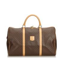 76bc9d47d0d7f Vintage Celine Brown PVC Plastic Macadam Duffle Bag France - $359.04