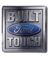 """Built Ford Tough 12"""" x 12"""" Ford Wall / Man Cave Sign Official Licensed P... - $19.15"""