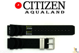 Citizen B741M-H16463 Aqualand 20mm Black Rubber Watch Band B741M-S012805 - $64.95