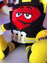 M&M's Red Character as Fireman Soft Plush New with Tags - $30.28