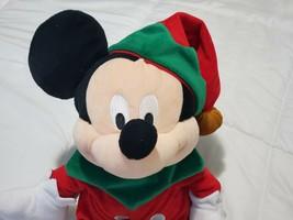 "Disney Store Mickey Mouse Elf  Christmas""  Plush 2009 - $24.26"