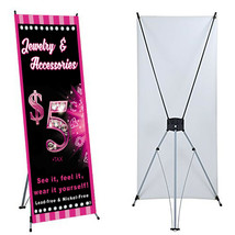 """Jewelry Banner X stand Included 24""""x 63"""" Events For Paparaz  Consultant Sales image 1"""
