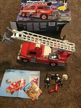 Playmobil Firetruck Fire Rescue Ladder Unit 5980 Lot W/ Figures Parts Or... - $24.74
