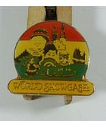 Vintage Epcot Pin 1in Walt Disney World Showcase Button Hinged Back Jewe... - $4.99
