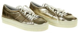 Saint Laurent Women's Metallic Gold Court Classic Low Top Sneakers Shoes 39 - $275.99