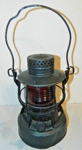 Antique Dietz 8 Day Lantern With Ribbed Red Globe And Burner - $79.43