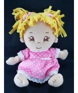 "2015 Charisma Adora 13"" Plush Doll With Pink polka Dot Dress Yellow Hair... - $13.36"