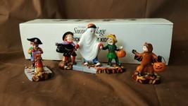Dept 56 Snow Village Halloween 3 Pc Accessory 1998 TRICK OR TREAT KIDS 5... - £18.23 GBP