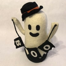 "Halloween Stuffed Ghost ""BOO"" banner Shelf Sitter Holiday Home Decor NEW. - $25.99"