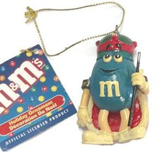 M & M Character Ornament 3 inches (Blue) - $17.50