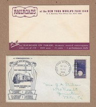 Stamp # 853 1939 1940 NY World's Fair Last Day of Service Envelope & Card - $6.00