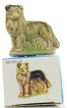 No.26 Collie Miniature Porcelain Figurine Picture Box Whimsies by Wade