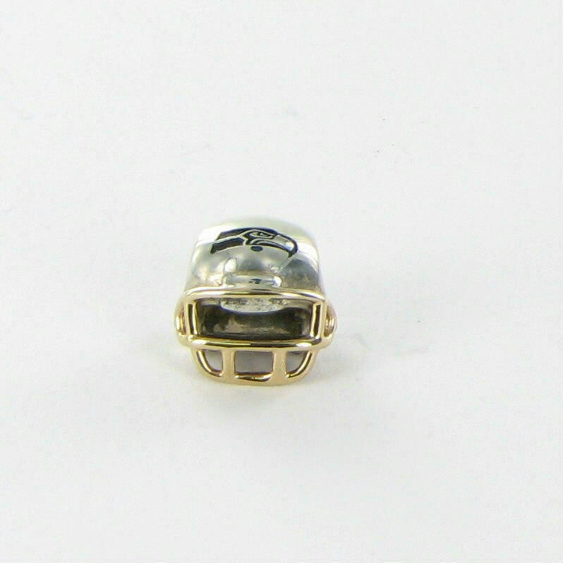 Pandora Seattle Seahawks Helmet Charm NFL USB790570-G128 Sterling 14K Gold New