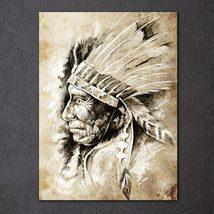1 Pcs American Indians Ethnic Portrait Wall Pictures Home Decor Canvas P... - $29.99+