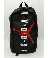 Unisex Nike Air Jordan L Backpack Black Spellout 9A0318-023 NWT Notebook... - $39.48