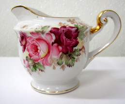 Tashiro Shoten Occupied Japan Creamer Post World War II White Pink Roses... - $21.95