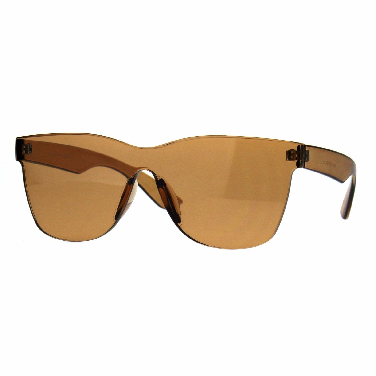 Rimless Fashion Sunglasses One Solid Plastic Square Frame UV 400