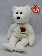 TY I LOVE NEW YORK STATE WHITE 2003 BEANIE BABY - STATE EXCLUSIVE (A) - $3.40