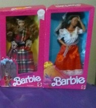 Barbie Dolls Around the World 1990 Scottish  + 1988 Mexican, 2 Barbie Do... - $39.99