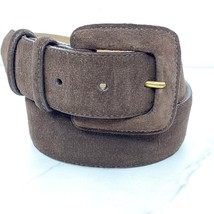 Lands' End Vintage Brown Suede Belt Made in USA Size 26 Womens - $14.72