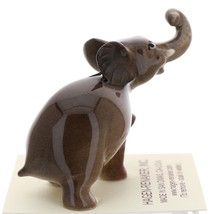 Hagen-Renaker Miniature Ceramic Wildlife Figurine Elephant Cartoon Baby Walking image 2