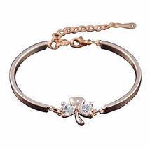 Heart-shaped Bracelet Rose Gold Hand Jewelry Amethyst Bracelet Jewelry Fashion