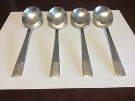 National Silverplate Calvalcade/Cavalcade Basket Weave Gumbo Spoon Lot Of 4 - $19.95