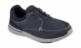 Skechers Men's Relaxed Fit Elent Mosen Boat Shoe Navy - $86.21