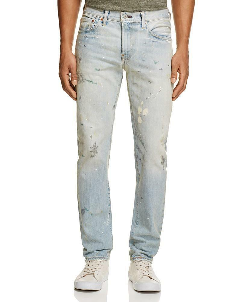 Levi's Strauss 511 Men's Premium Ringo Distressed Slim Fit Jeans Pants 511-2172