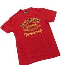 Harley Davidson Timeless Tradition Camicia Adulto Rosso Medio Maglietta Due Lati image 3