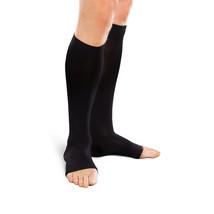 Jobst forMen 20-30 mmHg Med Black Knee High Open Toe - $65.92