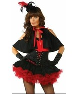 Vivacious Vampire Sexy Costume by Forplay Hat Cape Top Skirt and Gloves ... - $31.78