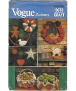 Vogue Craft Pattern 9073 / 609 Christmas Decor Ornaments Basket Covers U... - $7.99