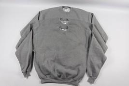 Vintage 90s New Jerzees Mens Large Lot of 3 Blank Crewneck Sweatshirts Gray - $94.99