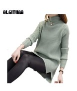 New 2018 Autumn Winter Loose Women Half neck Knit Sweater and Pullovers ... - €19,57 EUR
