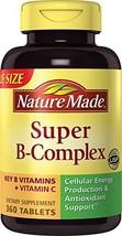 Nature Made Super Vitamin B-Complex + Vitamin C Tablets, 360 ct - $28.99