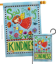 Sow Seeds of Kindness - Impressions Decorative Flags Set S104088-BO - $57.97