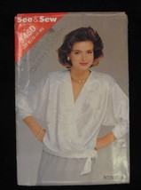 1985 Butterick See & Sew 5450 PATTERN Misses Blouse Size B 12 14 16 - $7.69